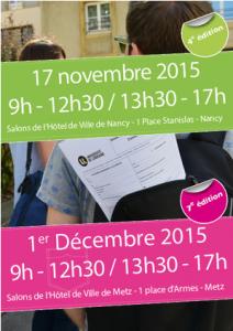 Stage en poche – Nancy : 17 novembre 2015 – Metz : 1er décembre 2015