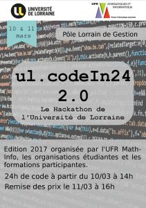 ul.codein24 – hackathon – 10 et 11 mars 2017